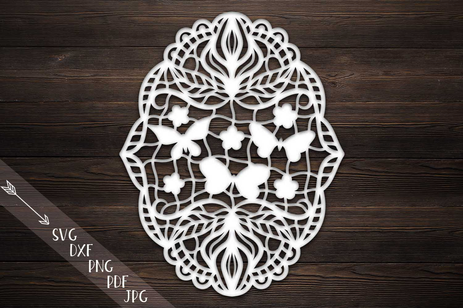Download Free Floral Butterflies Garland Graphic By Cornelia Creative Fabrica for Cricut Explore, Silhouette and other cutting machines.