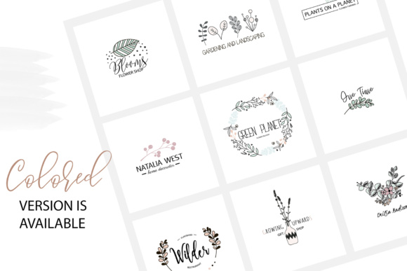 Flower Logo Templates V.1 Graphic By switzershop Image 2