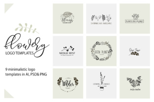 Flower Logo Templates V.1 Graphic By switzershop