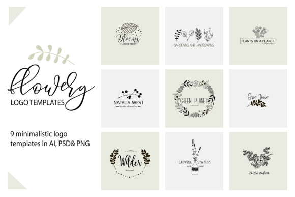 Flower Logo Templates V.1 Graphic By switzershop Image 1