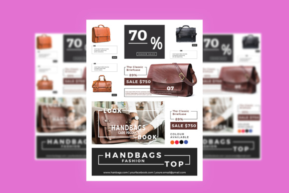 Print on Demand: Flyer Fashion Graphic Web Templates By utopiabrand19