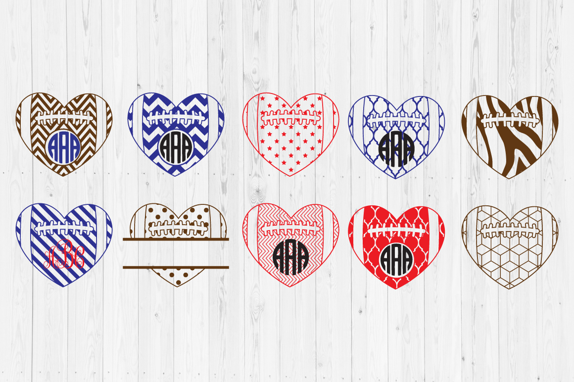 Download Free Football Heart Cut Files Graphic By Cutperfectstudio Creative for Cricut Explore, Silhouette and other cutting machines.