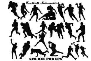 Download Free Football Silhouette Graphic By Twelvepapers Creative Fabrica for Cricut Explore, Silhouette and other cutting machines.