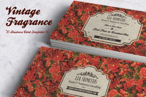 Download Free Fragrance Business Card Template Graphic By Bmachina for Cricut Explore, Silhouette and other cutting machines.