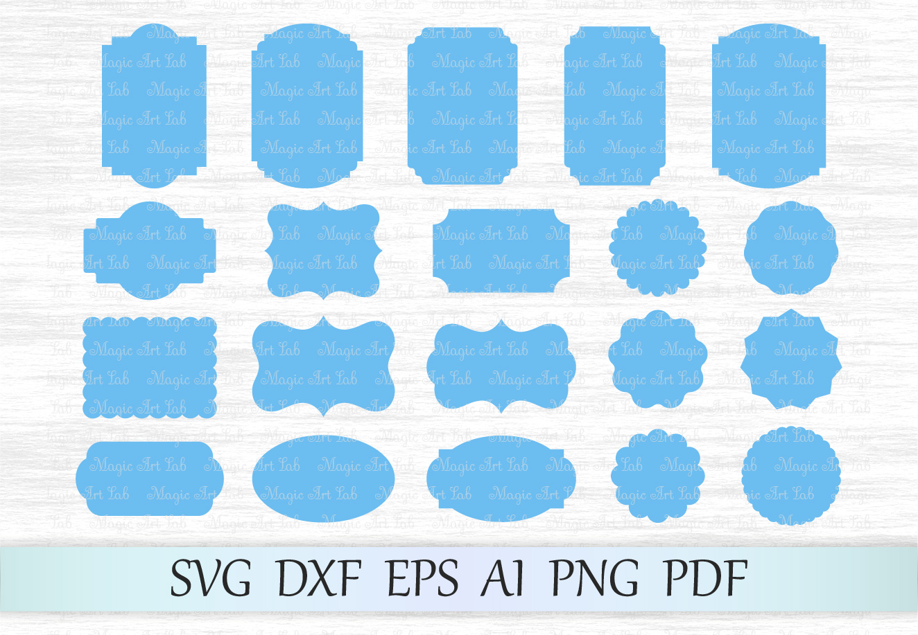 Download Free Frames Graphic By Magicartlab Creative Fabrica for Cricut Explore, Silhouette and other cutting machines.