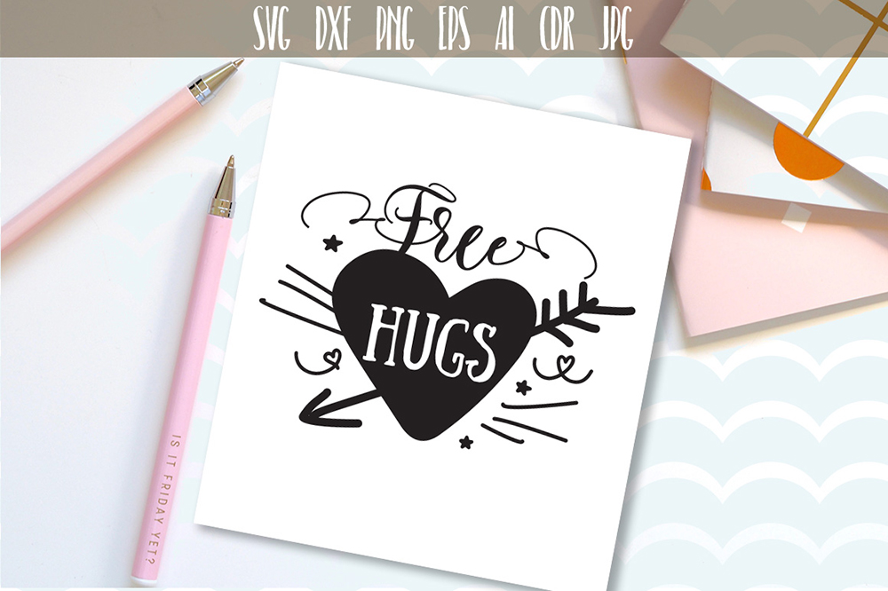 Download Free Free Hugs Graphic By Vector City Skyline Creative Fabrica for Cricut Explore, Silhouette and other cutting machines.