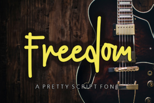 Print on Demand: Freedom Script & Handwritten Font By Youngtype