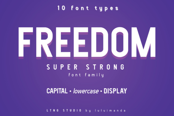 Print on Demand: Freedom Sans Serif Font By luluimanda82