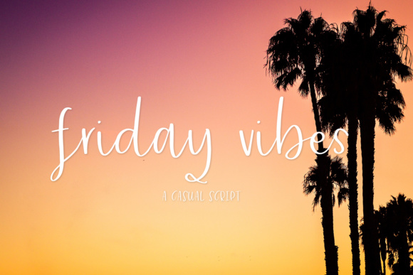 Print on Demand: Friday Vibes Script & Handwritten Font By BeckMcCormick