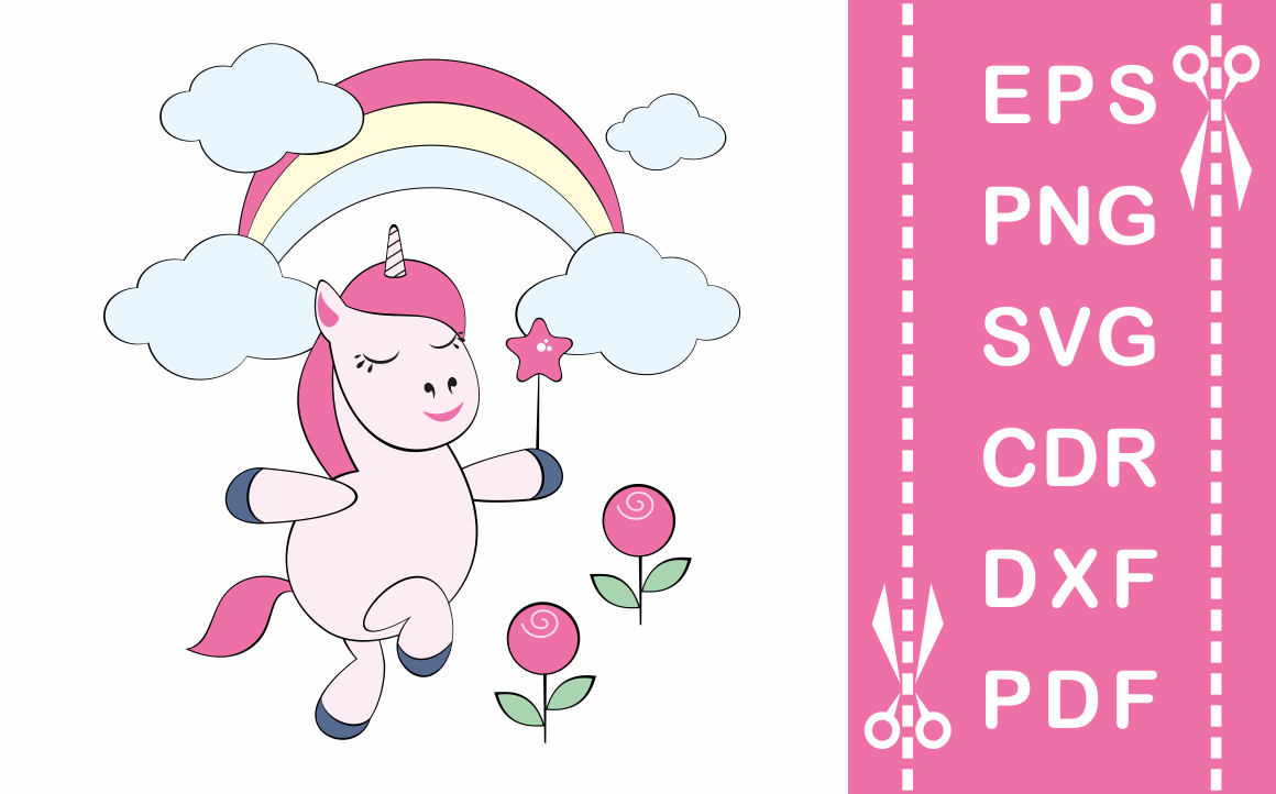 Download Free Funny Unicorn Cutting Files Graphic By Olga Belova Creative for Cricut Explore, Silhouette and other cutting machines.