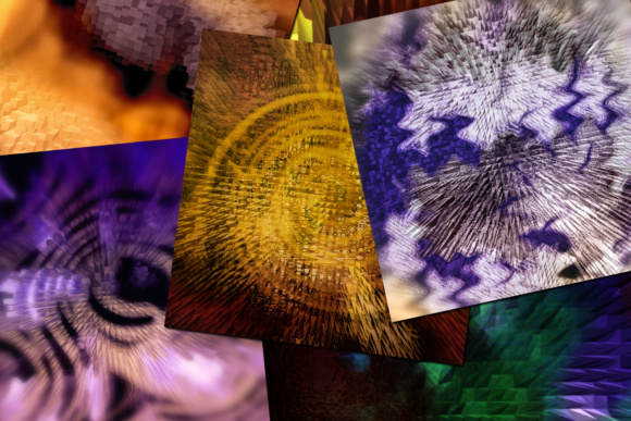 Print on Demand: Futuristic Abstract Extruded Backgrounds - 12 Image Set Graphic Backgrounds By SapphireXDesigns - Image 2