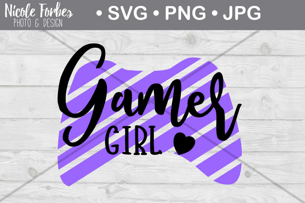 Download Free Gamer Girl Cut File Graphic By Nicole Forbes Designs Creative for Cricut Explore, Silhouette and other cutting machines.