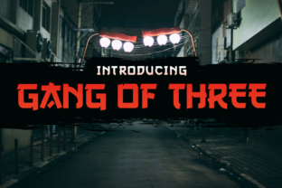 Gang of Three Font By Typodermic