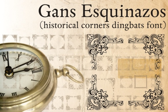 Print on Demand: Gans Esquinazos Dingbats Font By Intellecta Design