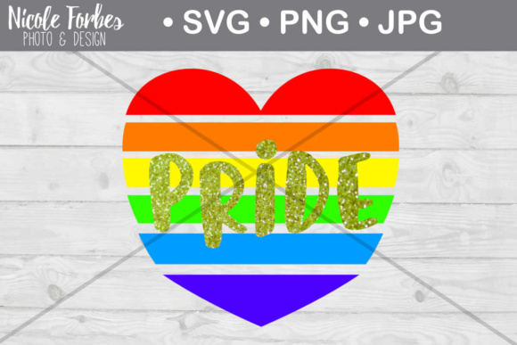 Download Free Gay Pride Rainbow Heart Svg Cut File Graphic By Nicole Forbes for Cricut Explore, Silhouette and other cutting machines.