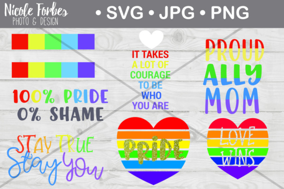 Download Free Gay Pride Bundle Graphic By Nicole Forbes Designs Creative Fabrica for Cricut Explore, Silhouette and other cutting machines.