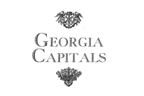 Print on Demand: Georgia Capitals Display Font By Intellecta Design