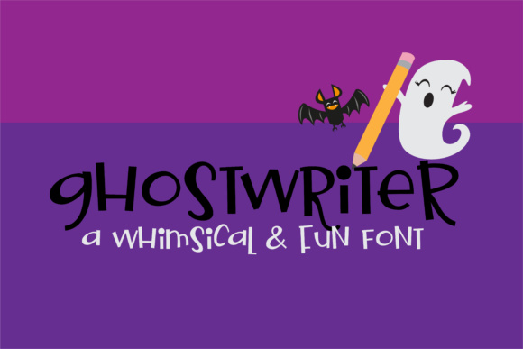 Print on Demand: Ghostwriter Display Font By Illustration Ink