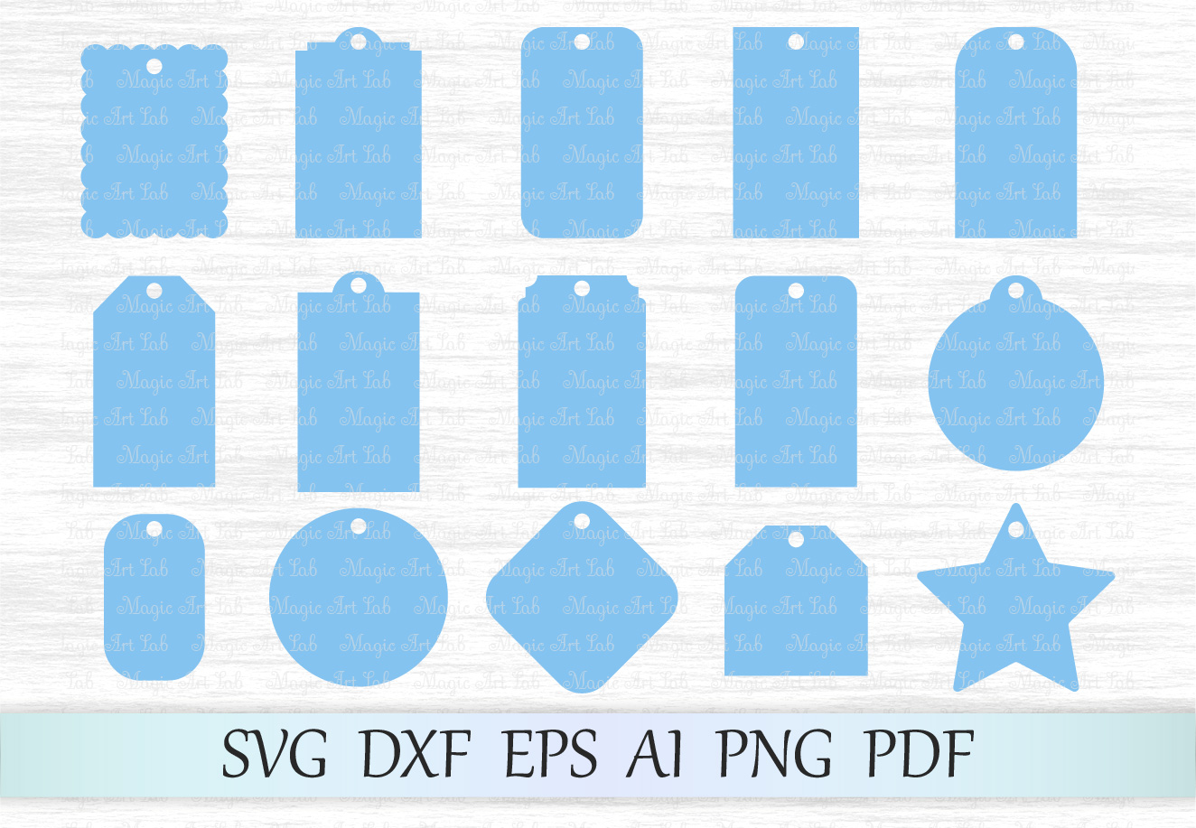 Download Free Gift Tags Graphic By Magicartlab Creative Fabrica for Cricut Explore, Silhouette and other cutting machines.