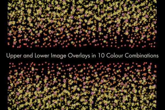 Print on Demand: Glitter Star Confetti Overlays - a Scattering of Stars Graphic Objects By SapphireXDesigns - Image 2