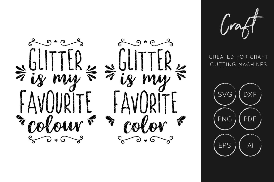 the latest e900c 392d0 Glitter is my favorite color svg