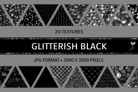 Print on Demand: Glitterish Black Graphic Textures By JulieCampbellDesigns