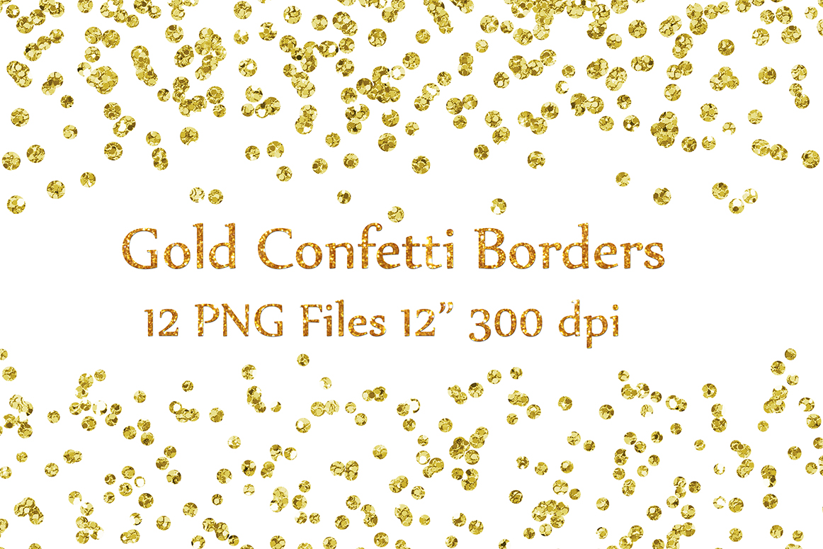 Download Free Gold Confetti Borders Clipart Glitter Confetti Clipart Glitter for Cricut Explore, Silhouette and other cutting machines.