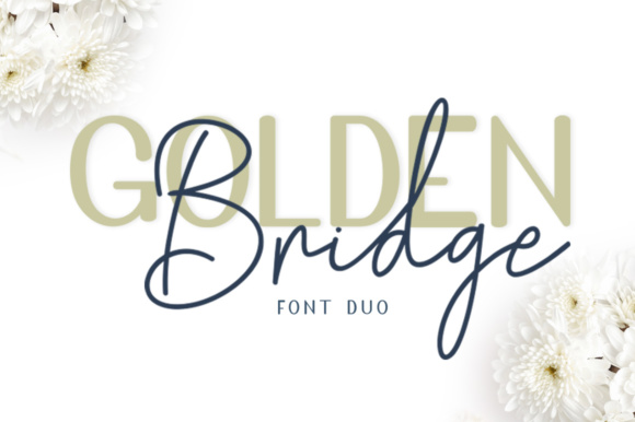 Print on Demand: Golden Bridge Script & Handwritten Font By masinong