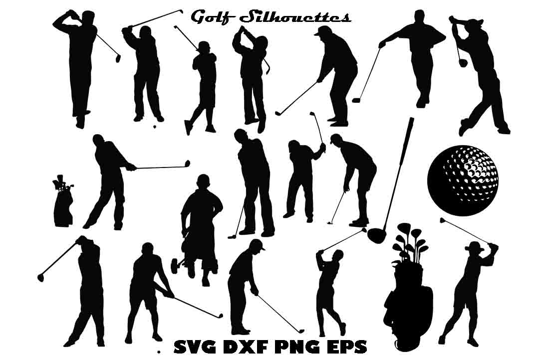 Download Free Golf Silhouette Graphic By Twelvepapers Creative Fabrica for Cricut Explore, Silhouette and other cutting machines.