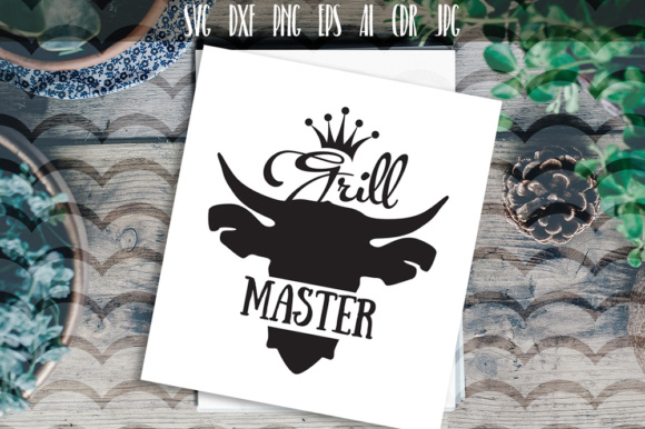 Download Free Grill Master Graphic By Vector City Skyline Creative Fabrica for Cricut Explore, Silhouette and other cutting machines.