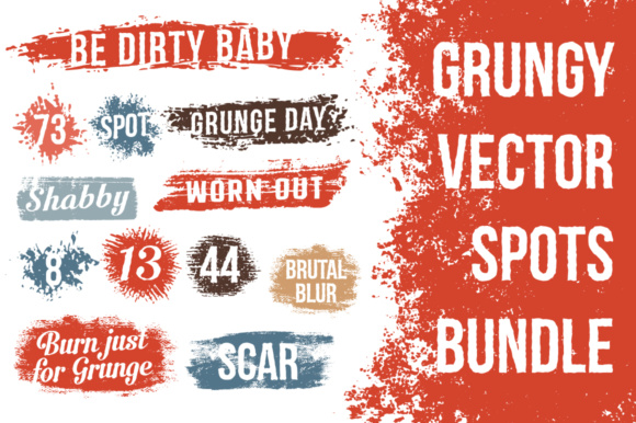 Grunge Spots Graphic Objects By Agor2012