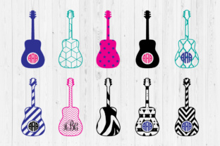 40+ Guitar Svg, Guitar Monogram Svg Files For Silhouette Cameo And Cricut Design