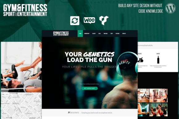 Gym & Fitness WordPress Theme Graphic By Visualmodo WordPress Themes
