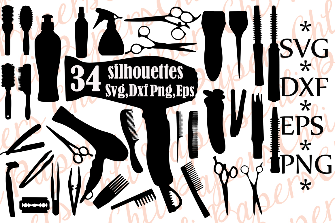 Hair Comb Silhouette SVG File