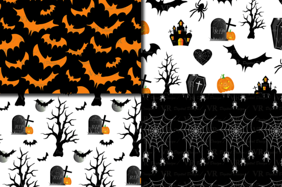 Halloween Digital Papers Graphic By Vr Digital Design Creative Fabrica