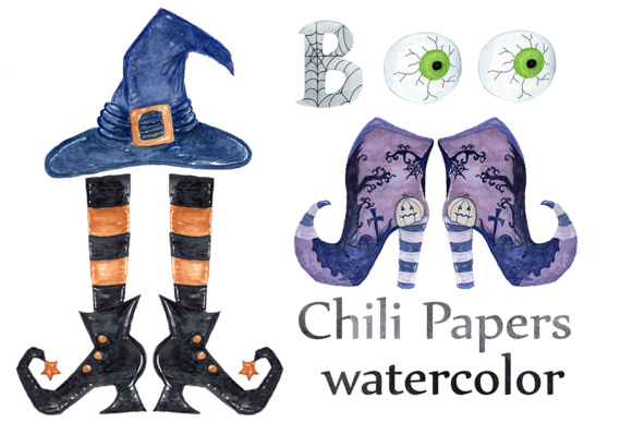 Download Free Halloween Clipart Watercolor Halloween Clip Art Witches Hat SVG Cut Files