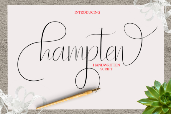 Print on Demand: Hampten Script & Handwritten Font By joelpopon