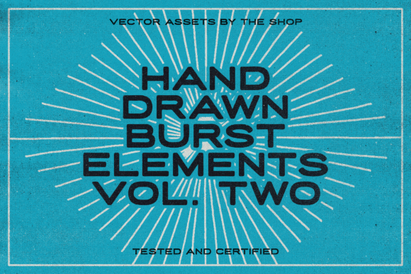 Hand-drawn Burst Elements Graphic Objects By theshopdesignstudio
