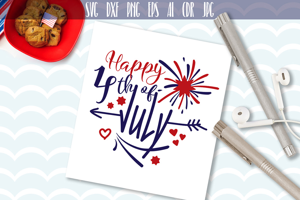 Download Free Happy 4th Of July Svg Graphic By Vector City Skyline Creative for Cricut Explore, Silhouette and other cutting machines.