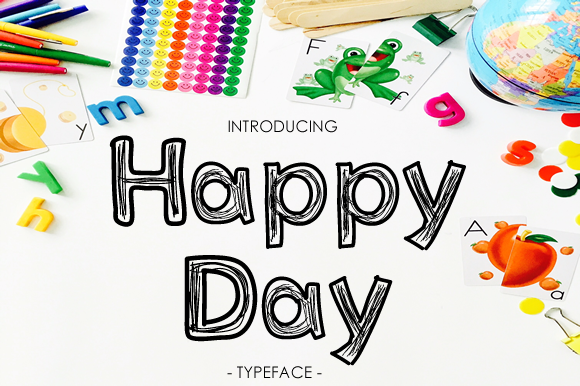 Print on Demand: Happy Day Display Font By yh.seaofknowledge