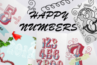 Happy Numbers Graphic By InkandBrush