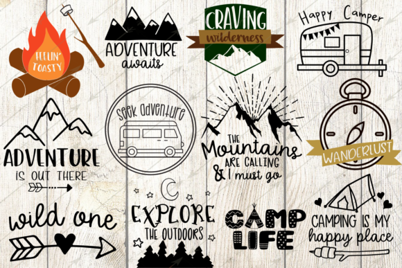Download Free Camping Bundle Graphic By Digitalistdesigns Creative Fabrica for Cricut Explore, Silhouette and other cutting machines.