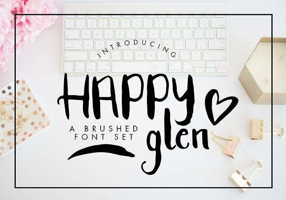 Print on Demand: Happyglen Script & Handwritten Font By Bloom and Briar