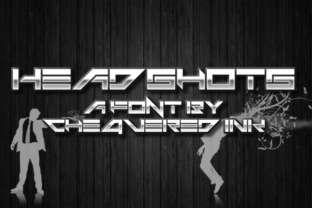 Headshots Display Font By Chequered Ink