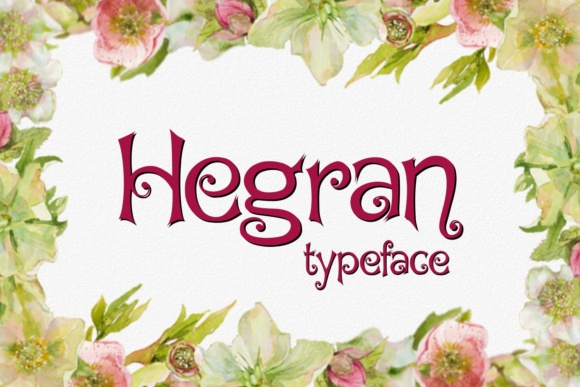 Hegran Decorative Font By Eva Barabasne Olasz