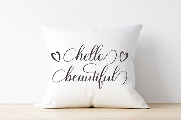 Hello Beautiful - SVG PNG EPS DXF Cutting Files Graphic By Megatype Image 2