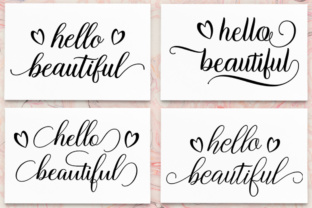 Hello Beautiful - SVG PNG EPS DXF Cutting Files Graphic By Megatype