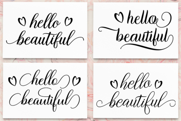 Hello Beautiful - SVG PNG EPS DXF Cutting Files Graphic By Megatype Image 1