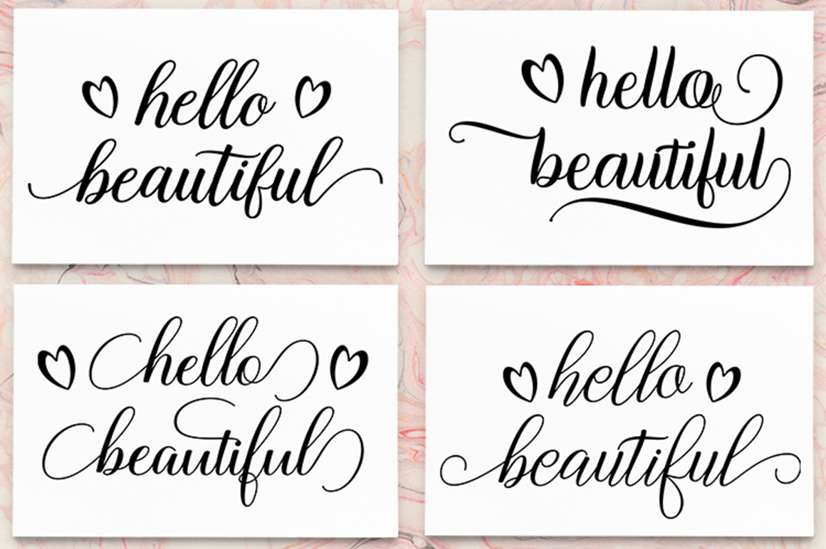 Download Free Hello Beautiful Graphic By Megatype Creative Fabrica for Cricut Explore, Silhouette and other cutting machines.