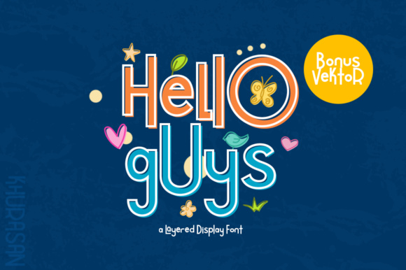 Print on Demand: Hello Guys Sans Serif Font By Khurasan
